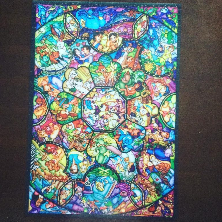 Disney Stained Glass Puzzle.Puzzle Talk Tenyo Stained Glass Disney Symmetry Puzzle